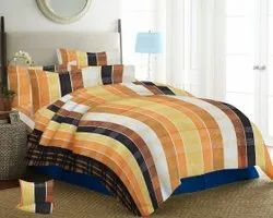 Cotton Stripped Print Bedsheet