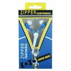 JPY Blue Universal Zipper Earphone