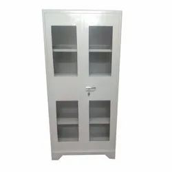 Double Door Color Coated Library Steel Cupboard, Size/Dimension: 78x36x18 Inch