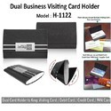 Leather Dual Visiting Card Holder