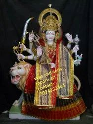 Maa Durga on Lion from Marble