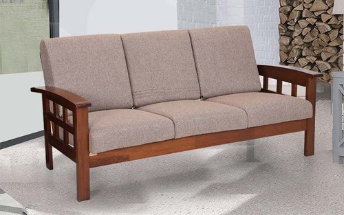 Modern Wooden Three Seater Sofa, Model Name/Number: 130