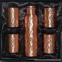 Copper Bottle and Glass Set