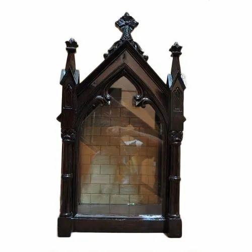 wooden and fiber house altar, lakdi ka furniture, लकड़ी काwooden and fiber house altar