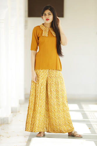 Reyon Plazzo style kurti with top