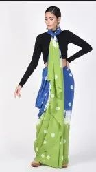 Shibori Printed Cotton Saree