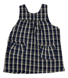 Multi Color Checked Kappogi Sleeveless Apron