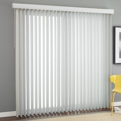 Paramount Buildcare White Vertical Window Blind, Size: 10*8 Feet
