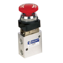 Push Button Red Valve