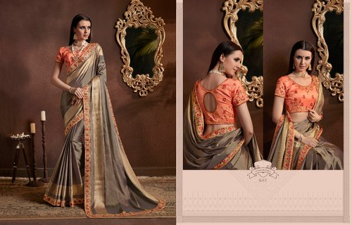 Embroidery Georgette Utsav Saree VoL 2 by Kessi, With blouse piece