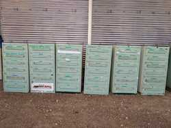 Grey Green Used Imported Storage Industrial Drawer, Size/Dimension: 28 x 28 x 5'