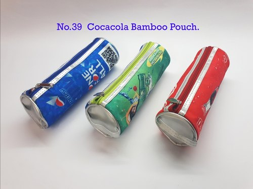 Matty Cotton Coated Pagoda Cocacola Bamboo Pencil Pouch