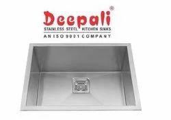 Deepali Matt Stainless Steel Single Bowl Handmade Sink, 22x18