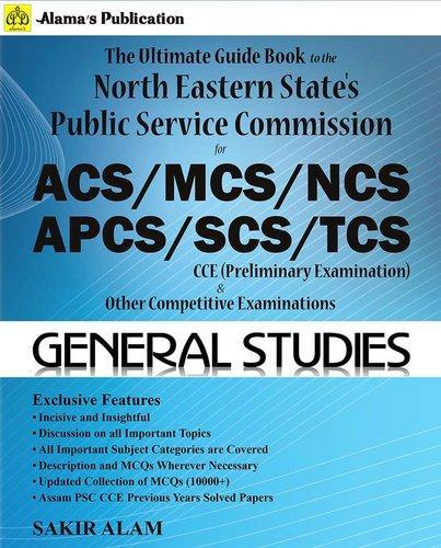 English APSC CCE Preliminary Exam General Studies Competition Book, Alama' s Publication