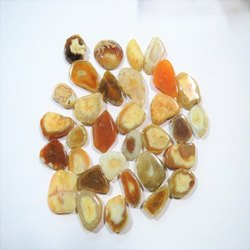 Honey Amber Color Yellow Agate Stone Slices