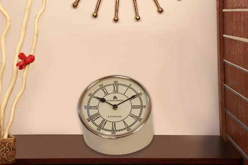 Co Covey Steel Antique Table Clock