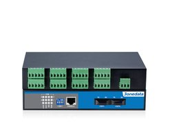 Ring Type Support 8-port RS-485 to 2-port Fiber Converter