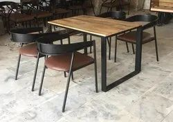 Iron Cafe Dining Set, for Restaurant