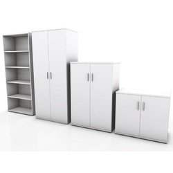 Standard White Used Cupboard And Almirah
