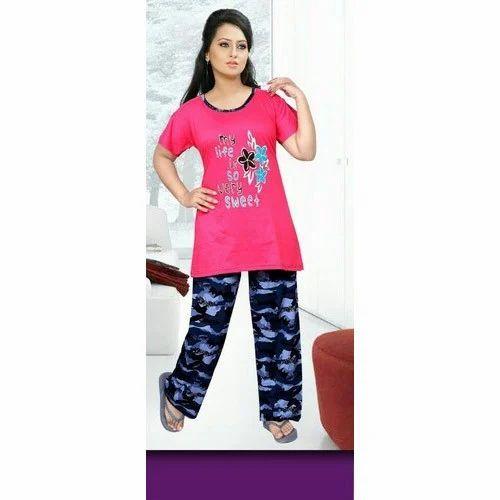 9fca0bdd63a Multicolor Cotton Fancy Night Suit