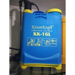 Blue And Yellow Piston Pump Kisankraft Knapsack Sprayer, 2.4 Kg, Model Name/Number: Kk-16l