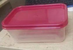 Plain Rectangular Transparent Plastic Storage Boxes, 6*4*3 Inch, Capacity: 600ml