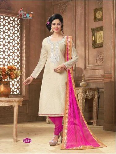 fb6481901d Cotton Embroidered Party Wear Designer Salwar Kameez Suit, Size: L ...