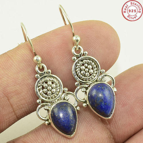 925 Sterling Silver Lapis Lazuli Earring Jewelry