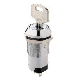 Elcom International Key Removable in 3 Position Spdt25ma, 12 VDC/AC