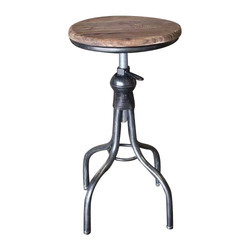 Bar Metal and Wooden Stool