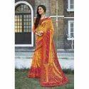 Designer Saree, 5.5 M (separate Blouse Piece)