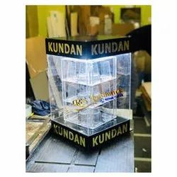 Transparent Rectangular Acrylic LED Moving Box For Jewelers, For Jewellery Shop