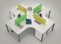 L Shape Workstations
