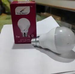 Cool Daylight Aluminum 7W 3 In 1 LED Color Bulb, 6 W - 10 W, Base Type: B22