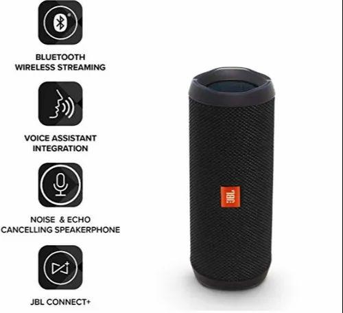 Black Jbl Flip 4 Portable Wireless Speaker With Powerful Bass Mic Rs 6500 Unit Id 21370939648