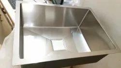 Hand made steel kitchen sink