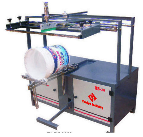 manual round screen printing machines at rs 90000 piece scale rh indiamart com manual printing machine for paper cups/silicone wristband/bottles/mugs manual pad printing machine