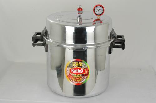 Polished 108 Litres Aluminum Jumbo Pressure Cooker (114 Quarts)