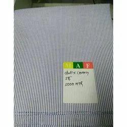 Handwash, Machine Wash Polyester Cotton Striped Fabrics, Packaging Type: Plastic Bag, Gsm: 100-150 Gsm