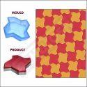 PVC Moulds For Paver Blocks Star - 60mm - SAND