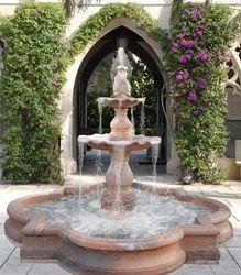 Carved Garden Fountain