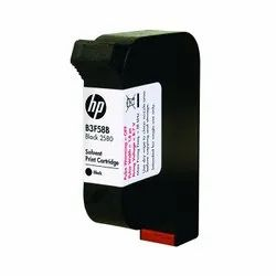 HP 2580 B3F58B Solvent Black Ink Cartridge