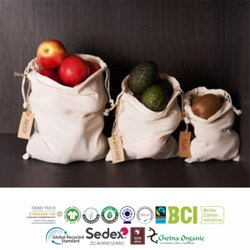Organic Cotton Muslin Bag Fair Trade Certified