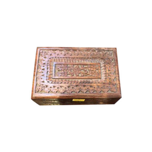 Teak Wood Brown Wooden Jewelry Box Rs 150 piece Ind Odyssey ID