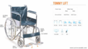Tommy-Lift Basic Steel Wheelchair