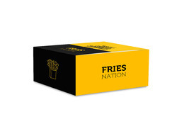 Printed Multicolor Take Away Boxes for French Fries, For Packaging, Capacity: 500 Gm