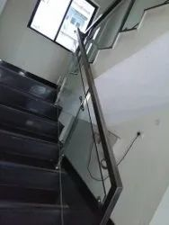 Square Glass Handrail
