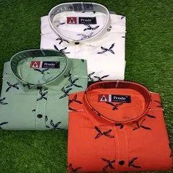 Multicolor Men's designer printed shirt