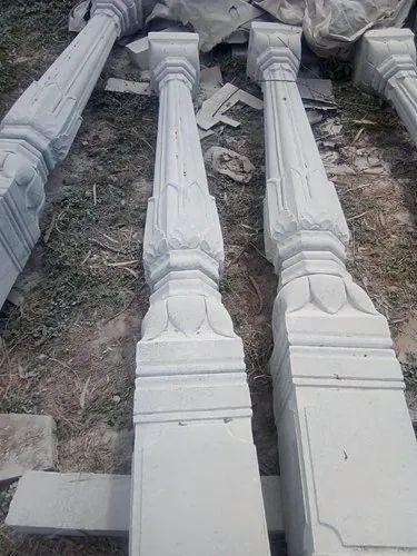 Sadarahalli Grey Stone Pillar, Thickness: 0' 8' '