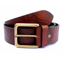 Golden Pin Buckle Leather Belt